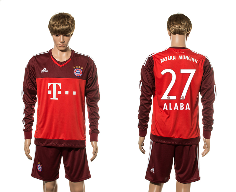 2015-16 Bayern Munich 27 ALABA Goalkeeper Jersey