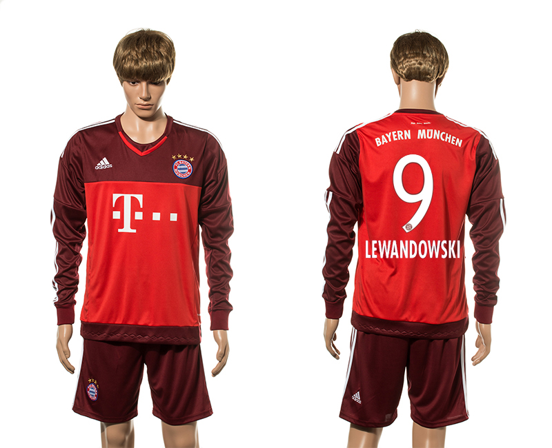 2015-16 Bayern Munich 9 LEWANDOWSKI Goalkeeper Jersey