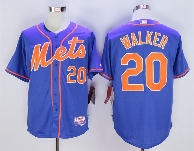 Mets 20 Neil Walker Blue Cool Base Jersey