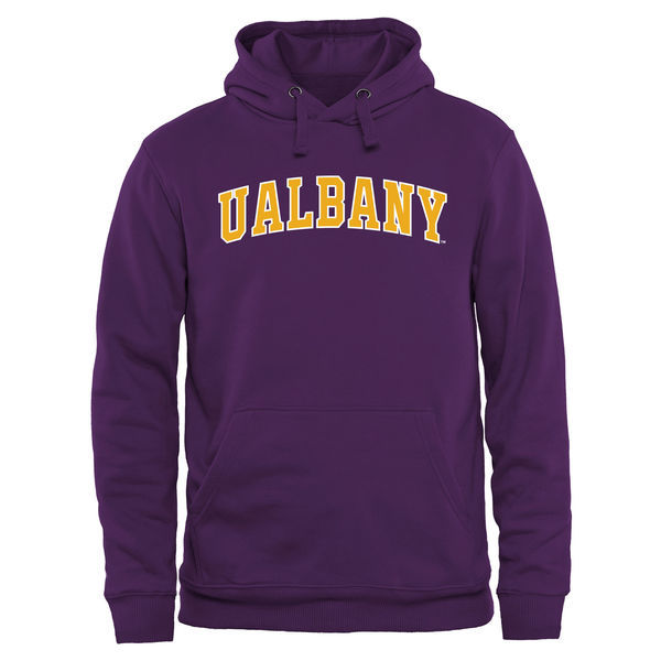 Albany Great Danes Fresh Logo Purple College Pullover Hoodie