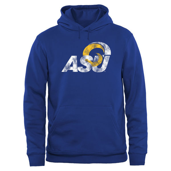 Albany State University Golden Rams Fresh Logo Blue College Pullover Hoodie (3)