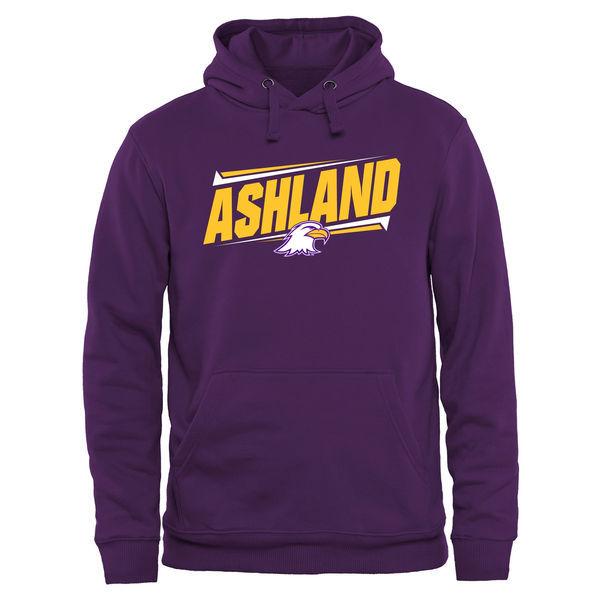 Ashland Eagles Team Logo Purple College Pullover Hoodie
