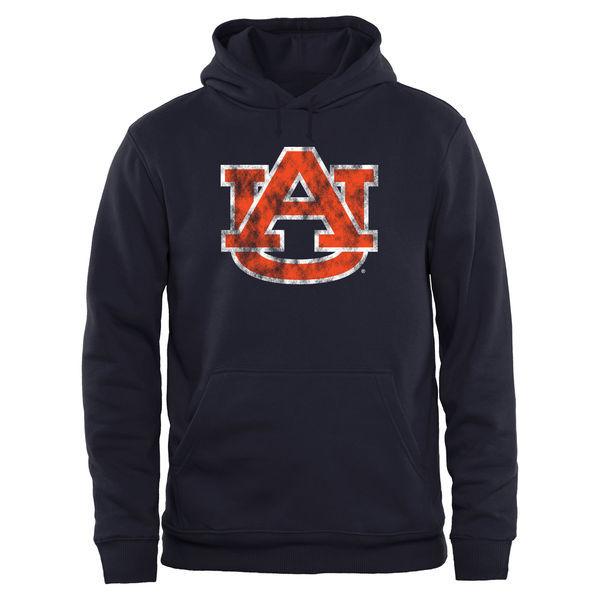 Auburn Tigers Navy Blue Team Logo College Pullover Hoodie2