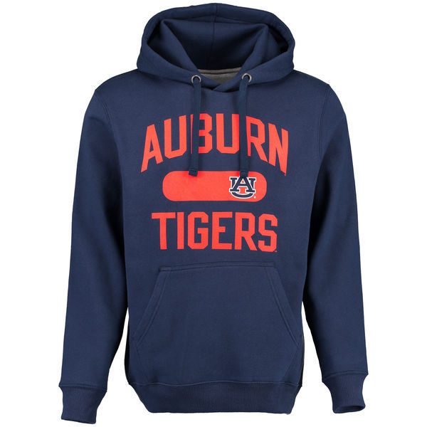Auburn Tigers Navy Blue Team Logo College Pullover Hoodie3