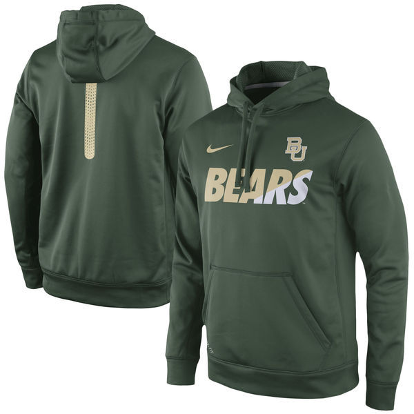 Baylor Bears Team Logo Green College Pullover Hoodie