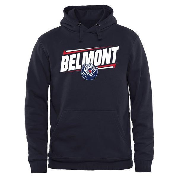 Belmont Bruins Team Logo Black College Pullover Hoodie3