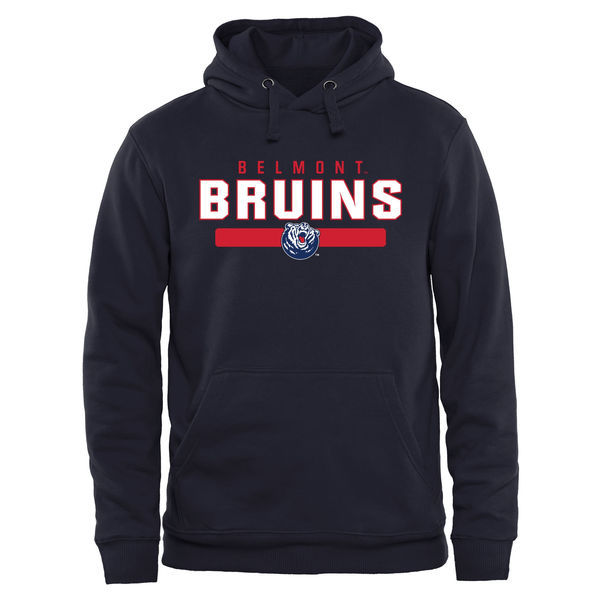 Belmont Bruins Team Logo Navy Blue College Pullover Hoodie6
