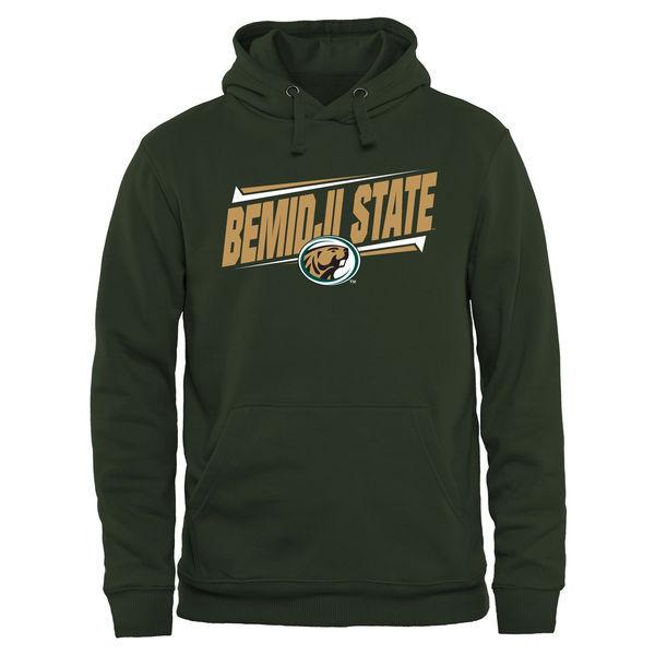 Bemidji State Beavers Team Logo Green College Pullover Hoodie