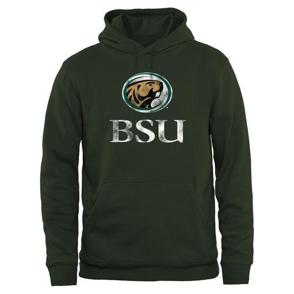 Bemidji State Beavers Team Logo Green College Pullover Hoodie2