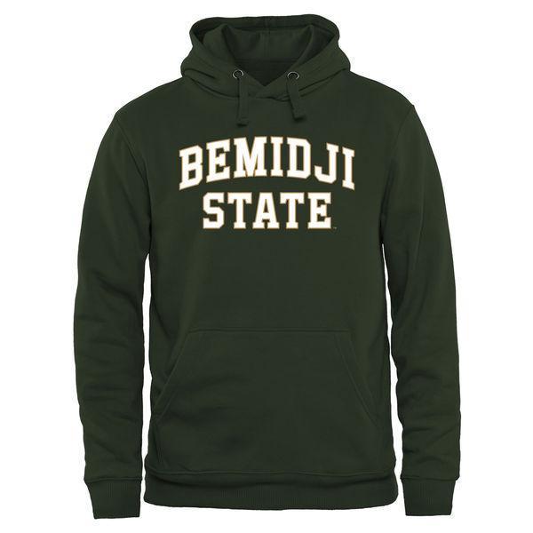 Bemidji State Beavers Team Logo Green College Pullover Hoodie3