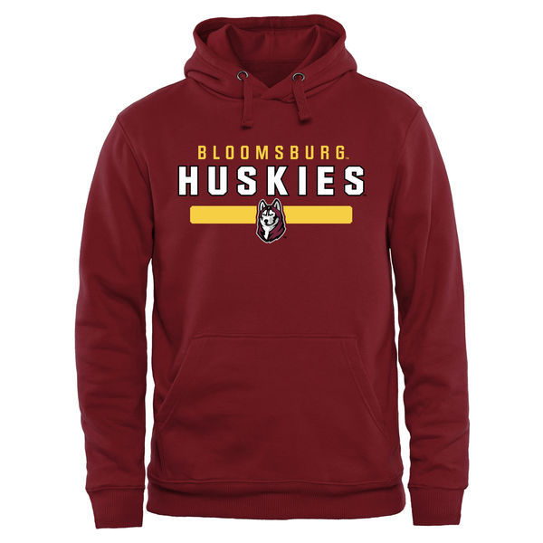 Bloomsburg Huskies Red Team Logo College Pullover Hoodie