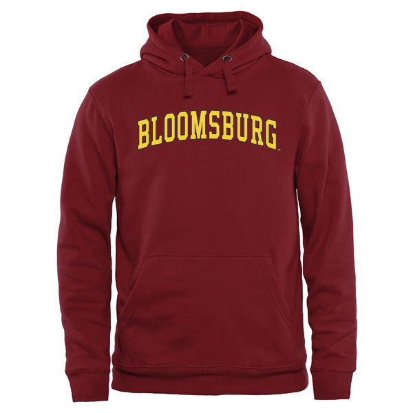Bloomsburg Huskies Red Team Logo College Pullover Hoodie3