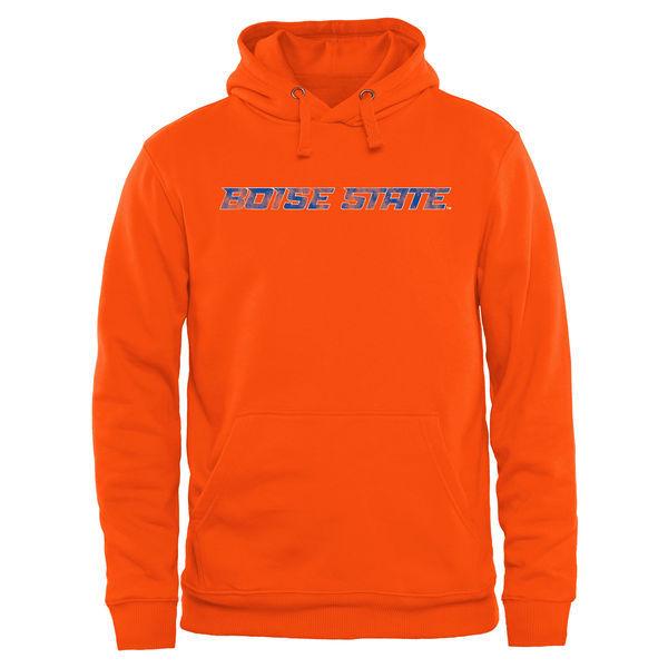 Boise State Broncos Team Logo Orange College Pullover Hoodie