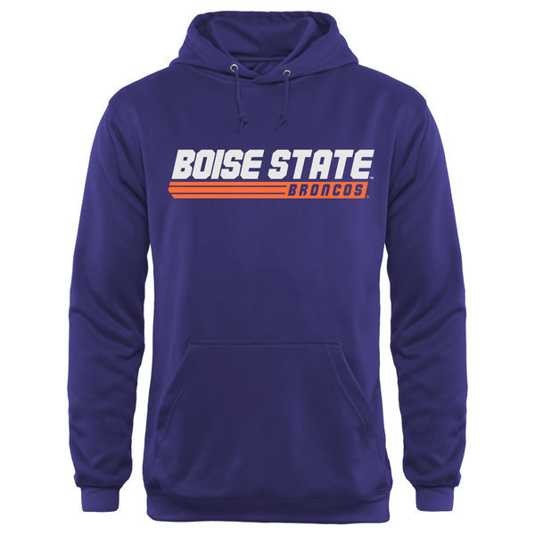 Boise State Broncos Team Logo Purple College Pullover Hoodie