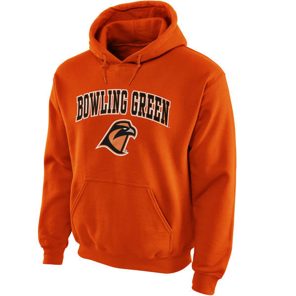 Bowling Green Falcons Team Logo Orange College Pullover Hoodie6