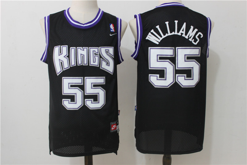 Kings 55 Jason Williams Black Nike Throwback Jersey