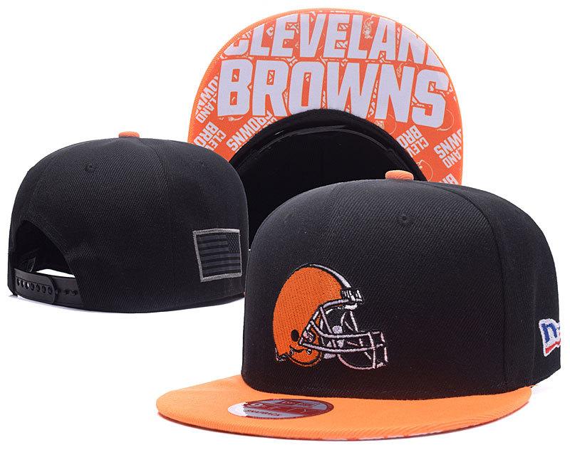 Browns Team Logo Black Adjustable Hat XDF