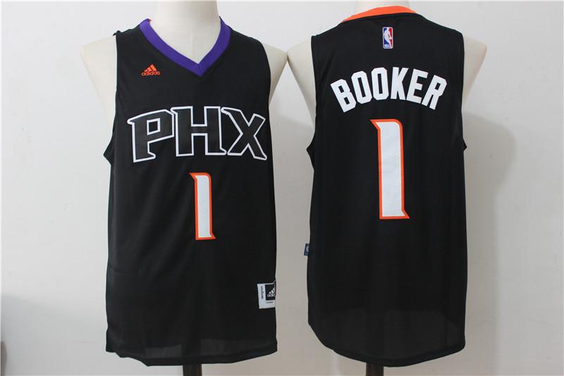Suns 1 Devin Booker Black Swingman Jersey