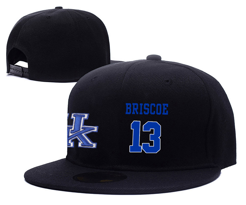Kentucky Wildcats 13 Isaiah Briscoe Black College Basketball Adjustable Hat