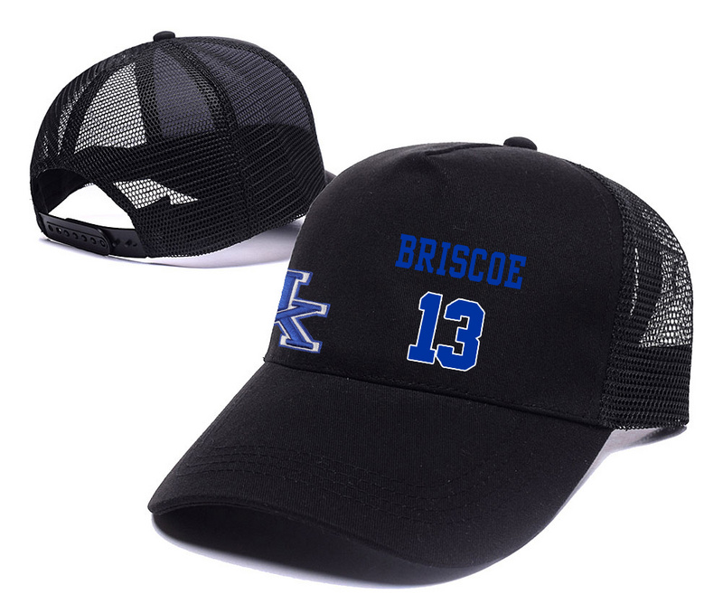 Kentucky Wildcats 13 Isaiah Briscoe Black College Basketball Adjustable Mesh Hat