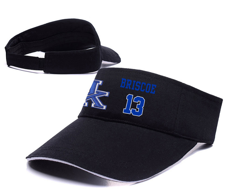 Kentucky Wildcats 13 Isaiah Briscoe Black College Basketball Adjustable Visor