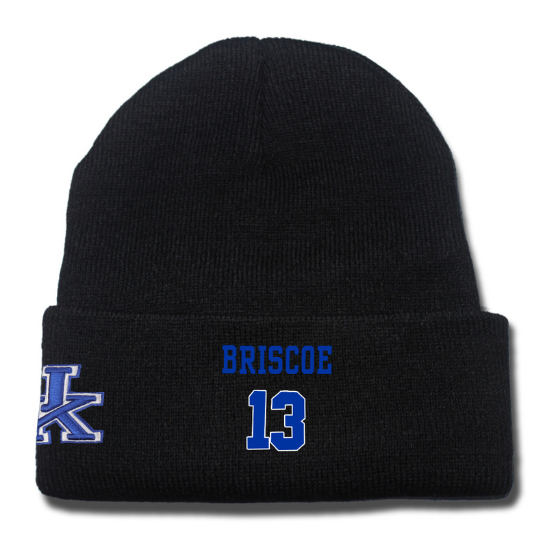 Kentucky Wildcats 13 Isaiah Briscoe Black College Basketball Knit Hat