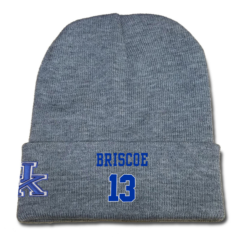Kentucky Wildcats 13 Isaiah Briscoe Gray College Basketball Knit Hat