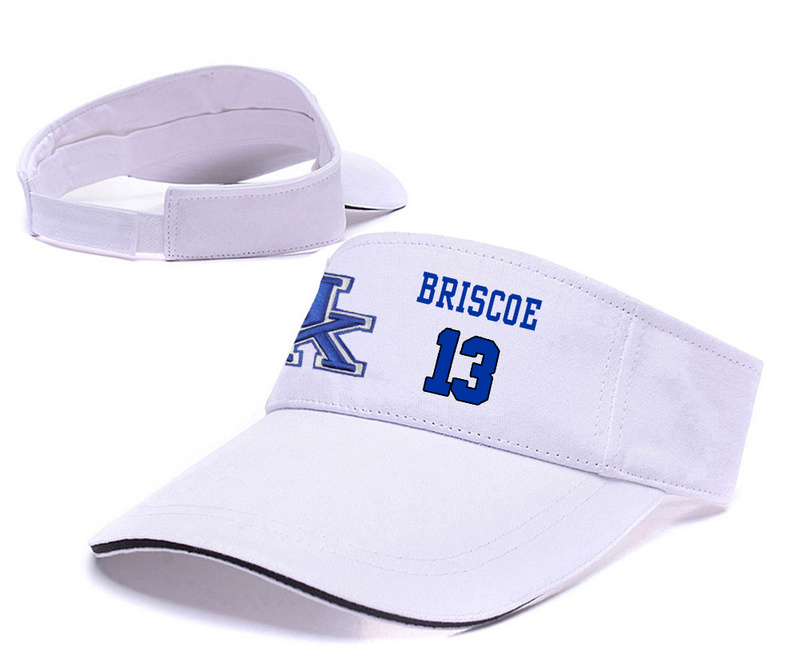Kentucky Wildcats 13 Isaiah Briscoe White College Basketball Adjustable Visor