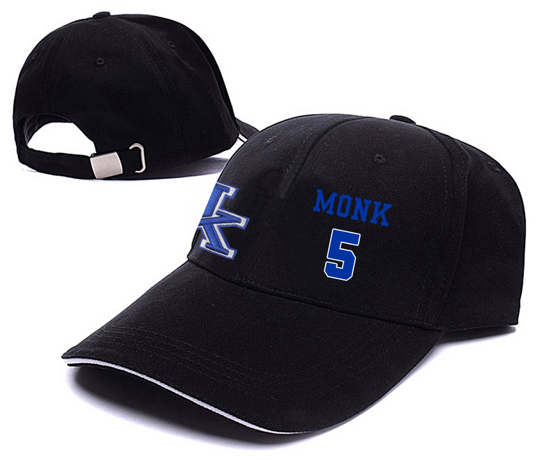 Kentucky Wildcats 5 Malik Monk Black College Basketball Adjustable Peaked Hat