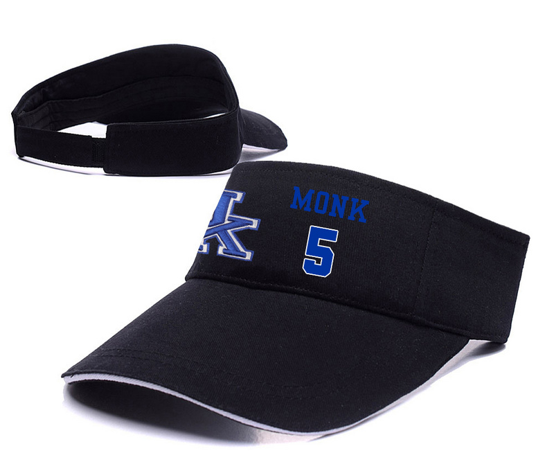 Kentucky Wildcats 5 Malik Monk Black College Basketball Adjustable Visor