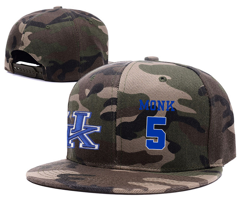 Kentucky Wildcats 5 Malik Monk Camo College Basketball Adjustable Hat