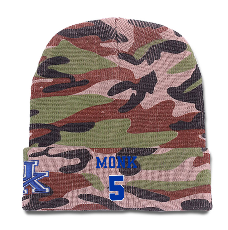 Kentucky Wildcats 5 Malik Monk Camo College Basketball Knit Hat