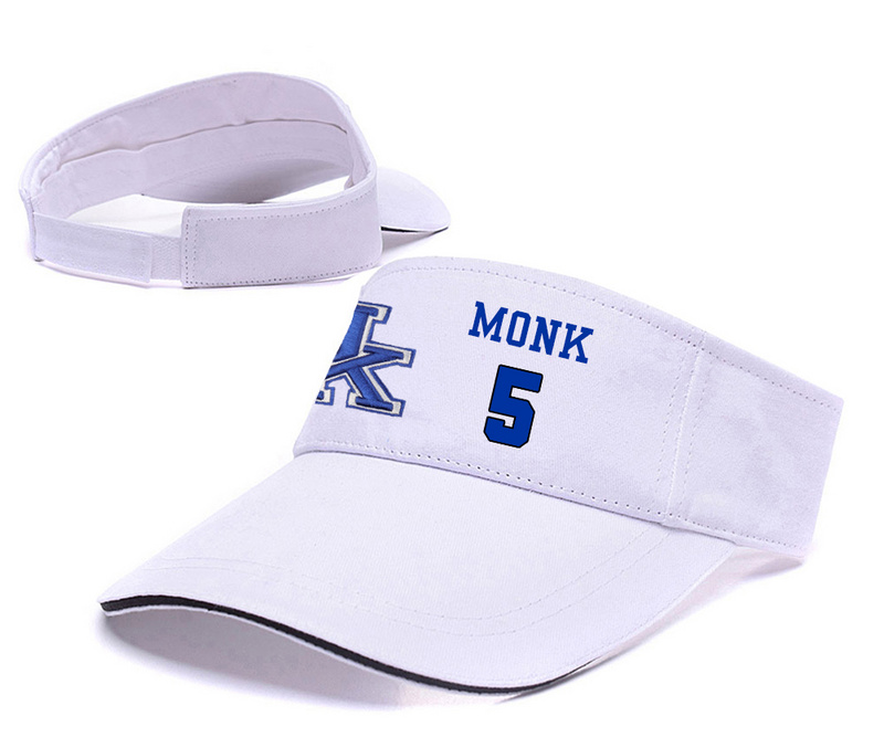 Kentucky Wildcats 5 Malik Monk White College Basketball Adjustable Visor
