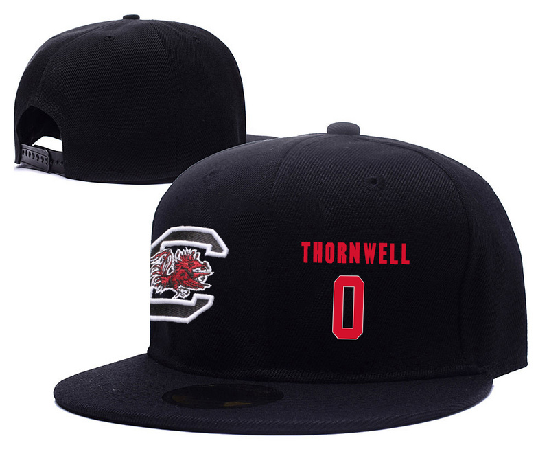 South Carolina Gamecocks 0 Sindarius Thornwell Black College Basketball Adjustable Hat