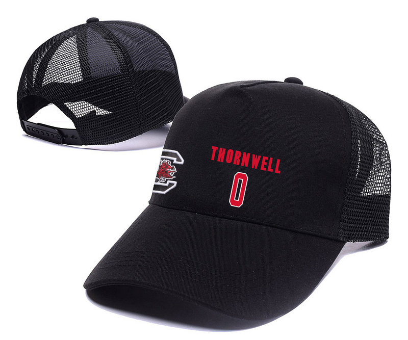 South Carolina Gamecocks 0 Sindarius Thornwell Black College Basketball Adjustable Mesh Hat