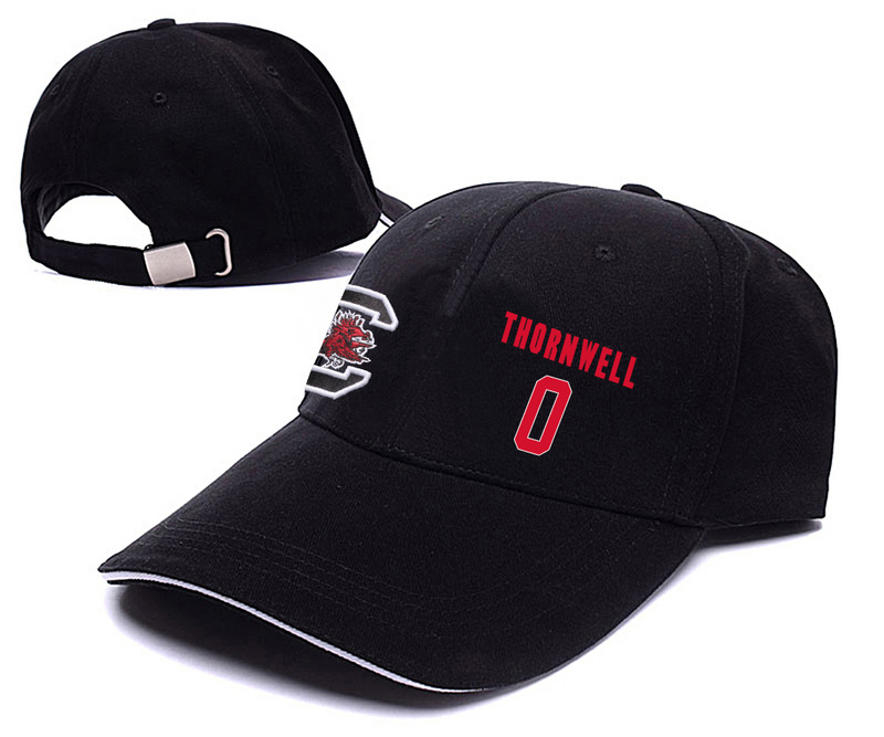 South Carolina Gamecocks 0 Sindarius Thornwell Black College Basketball Adjustable Peaked Hat