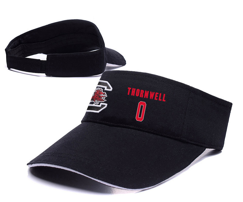 South Carolina Gamecocks 0 Sindarius Thornwell Black College Basketball Adjustable Visor