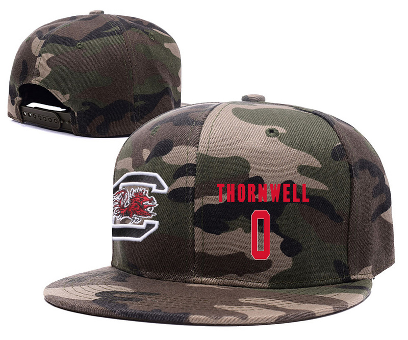 South Carolina Gamecocks 0 Sindarius Thornwell Camo College Basketball Adjustable Hat