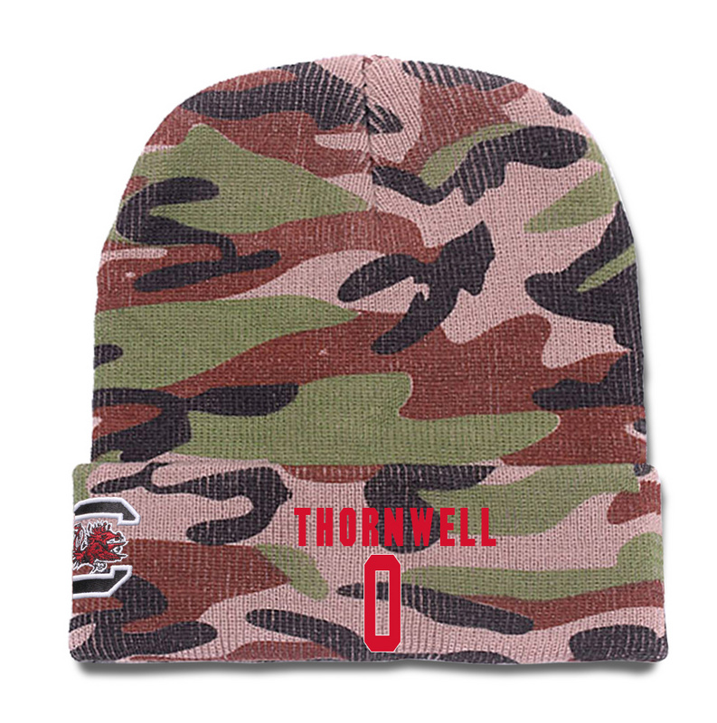 South Carolina Gamecocks 0 Sindarius Thornwell Camo College Basketball Knit Hat