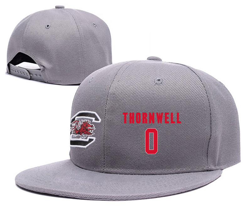 South Carolina Gamecocks 0 Sindarius Thornwell Gray College Basketball Adjustable Hat