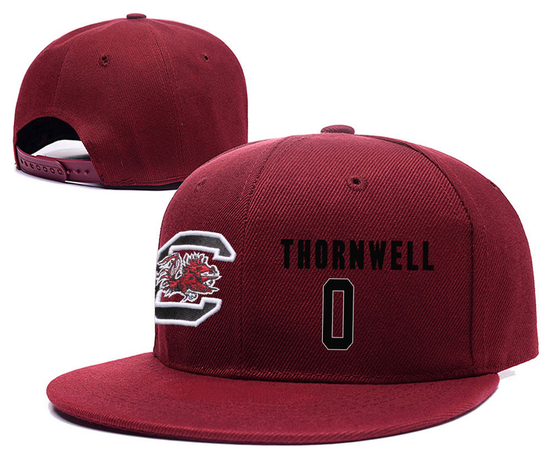 South Carolina Gamecocks 0 Sindarius Thornwell Red College Basketball Adjustable Hat