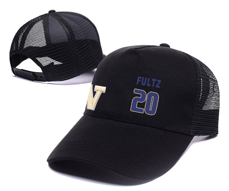Washington Huskies 20 Markelle Fultz Black College Basketball Adjustable Mesh Hat