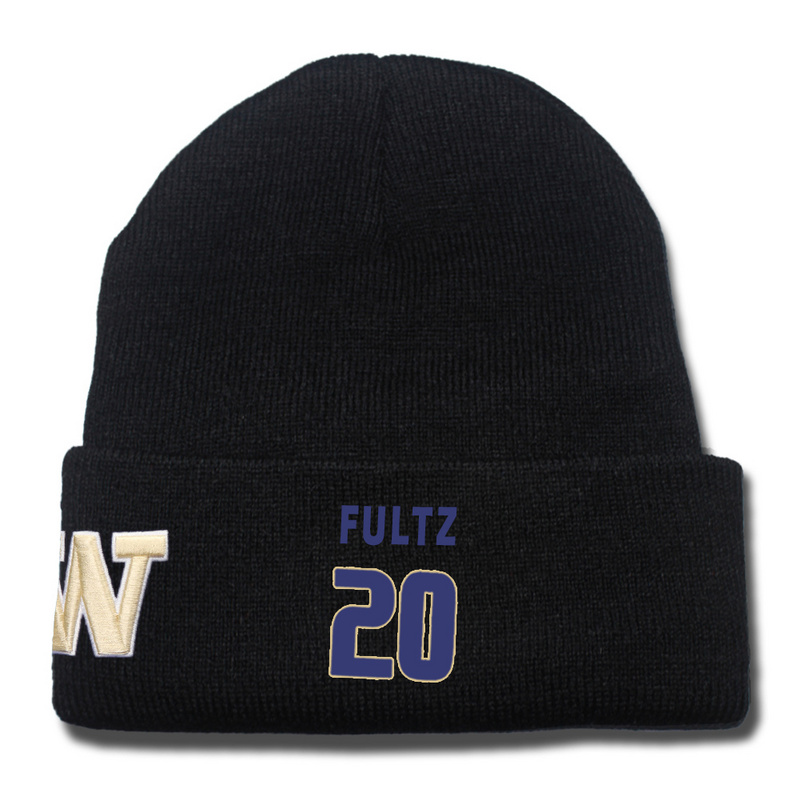 Washington Huskies 20 Markelle Fultz Black College Basketball Knit Hat