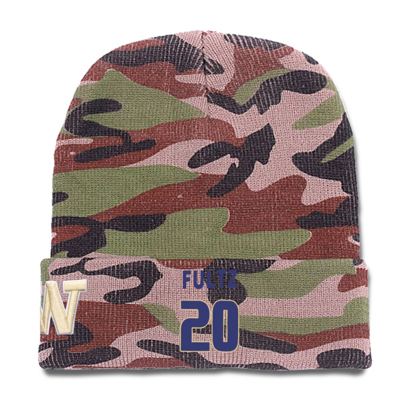 Washington Huskies 20 Markelle Fultz Camo College Basketball Knit Hat