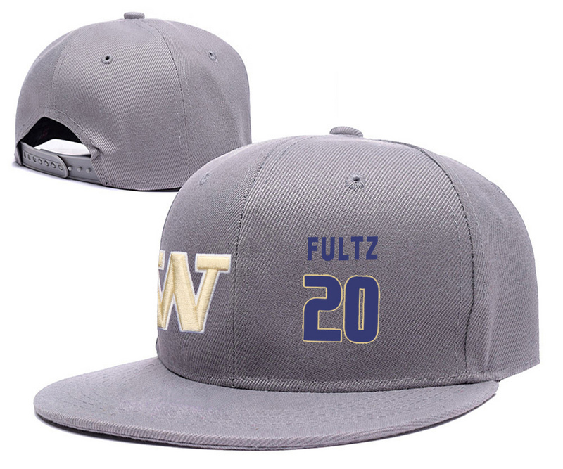 Washington Huskies 20 Markelle Fultz Gray College Basketball Adjustable Hat