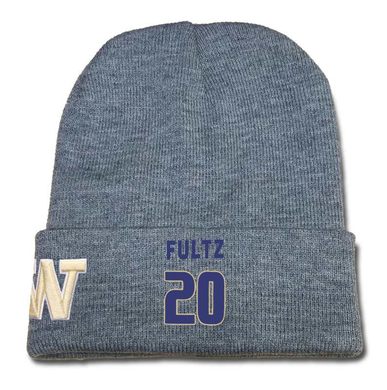 Washington Huskies 20 Markelle Fultz Gray College Basketball Knit Hat