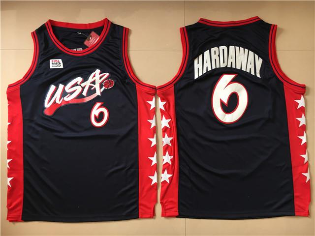 USA 6 Penny Hardaway Black Dream Team III Jersey