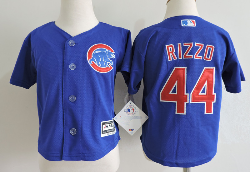Cubs 44 Anthony Rizzo Blue Toddler Cool Base Jersey