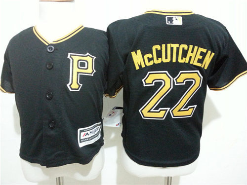 Pirates 22 Andrew McCutchen Black Toddler Cool Base Jersey