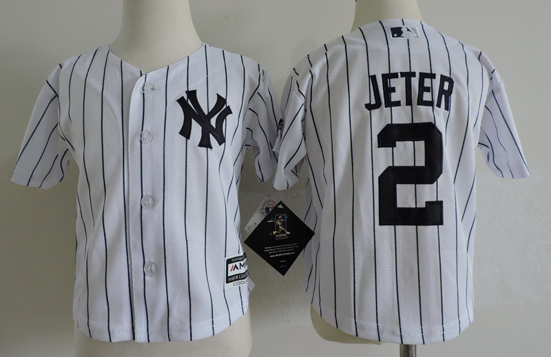 Yankees 2 Derek Jeter White Toddler Cool Base Jersey